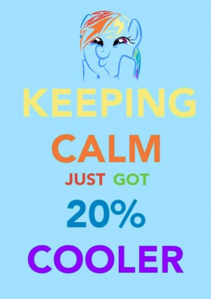 Rainbow Dash Percent Calmer...