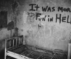 Written on the wall of an abandoned mental hospital. | via Tumblr