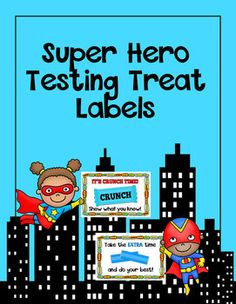super hero themed testing treat labels more theme test super heroes ...