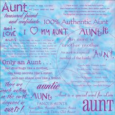 Sayings About Aunts | Aunt From Niece Quotes