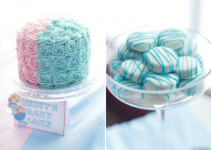 Pink And Blue Baby Shower Guest Dessert Feature