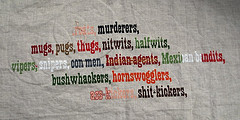 ... halfwits asskickers nitwits mexicanbandits indianagents hornswogglers
