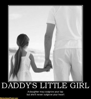 DADDY'S LITTLE GIRL - A daughter may outgrow your lap but she'll never ...