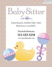 Download this free babysitting flyer