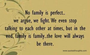 Family Quotes – No Family is Perfect