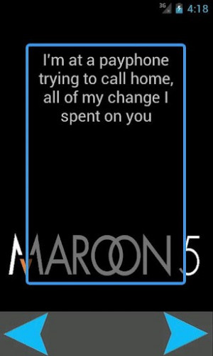 View bigger - Maroon 5 Song Quotes 100+ for Android screenshot