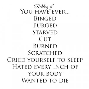 self harm cutting anorexia bulimia eating disorders self injury ...