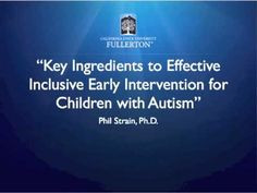 Key Ingredients to Effective Inclusive Early Intervention for Children ...
