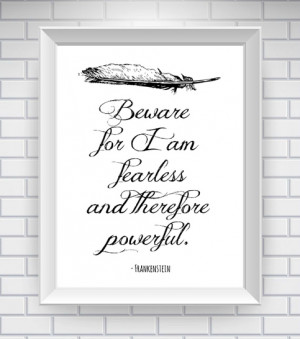 frankenstein quote print white $ 15 00 frankenstein1white added to ...