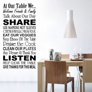 Our Table Family Wall Quote