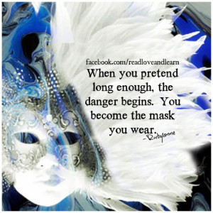 Don't wear a mask... when you want it off and it has adhered to your ...