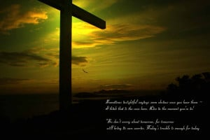 divine Jesus quotes with cross wallpaper