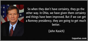 More John Kasich Quotes