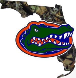 Florida Gators Camo FL Gator Precision Cut Vinyl UF De cal 5.5