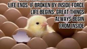 Great things always begin from inside