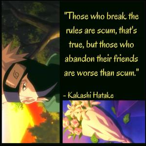 ... this image include: kakashi hatake, kakashi, naruto, quote and scum