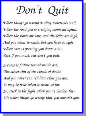 P81011 - Don't Quit