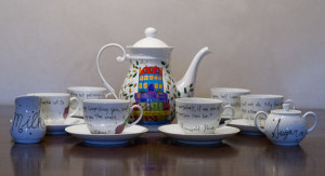 Reserved: Jane Austen Tea Set - Special Order for Lou- Large white ...