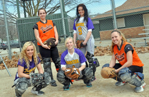 Softball catchers group