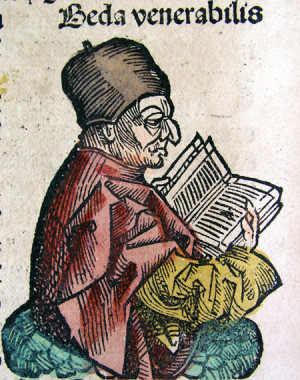 Depiction of the Venerable Bede from the Nuremberg Chronicle, 1493