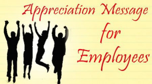 Employee Appreciation Thank You Messages