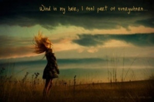 ... , dreams, girl, hair, message, quote, wind, wind in my hair, words