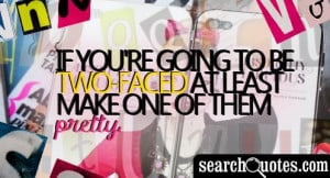 two faced people quotes