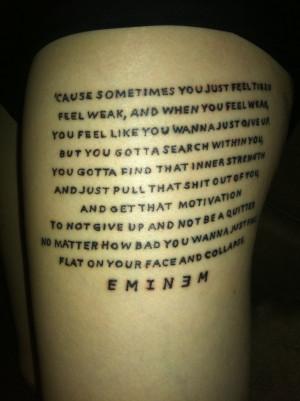 Prepossessing Eminem Tattoo Quotes