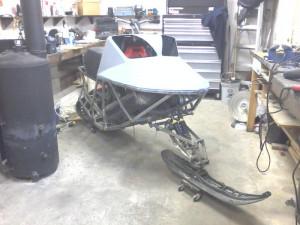 Homemade Snowmobile Sled