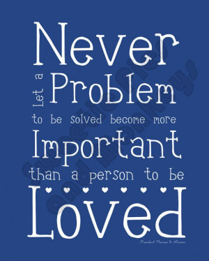 LDS printable artwork - Quote by Thomas S. Monson - Blue.