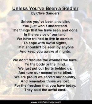 Unless You 39 ve Been a Soldier