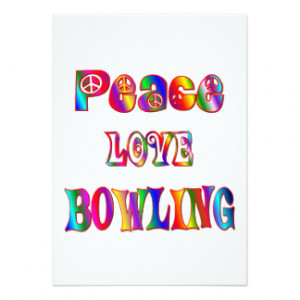 Bowling Sayings Cards & More
