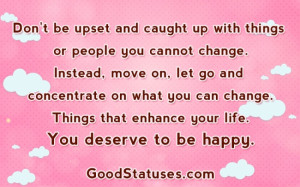 Inspiring Morning quotes and Statuses - Instead, move on and let go