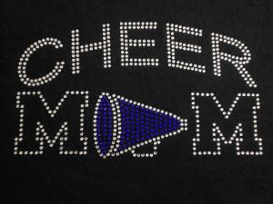 Cheer Mom Rhinestone T-Shirt or Tank Step Mom. $26.00, via Etsy.