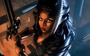 Download Women Warrior Game Art Wallpaper | Free Wallpapers