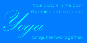 Yoga today @ 3.30 in the Native Studies Room