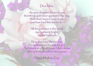 mothers day wishes and greetings by daughter