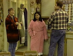 ... Jackie is on the way to having one herself. So Roseanne pushes her