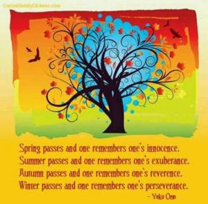 Yoko Ono quote quotes on the four seasons