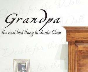 Wall Sticker Decal Quote Vinyl Art Lettering Grandpa Grandfather Santa ...