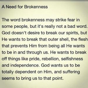 Learning dependence on God