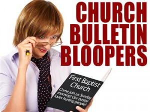 Funny Church Bulletin Bloopers