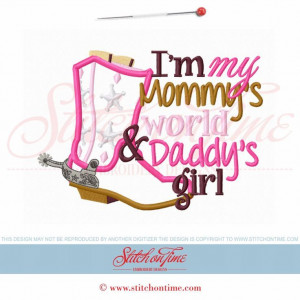 5931 Sayings : Mommy's World Daddy's Girl Applique 5x7