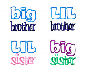 ... > Sayings > 4 Pack Sibling Designs - Little & Big Brother & Sister