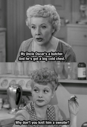 Lucy And Ethel Get The Same...