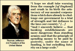 Today's Quotes: Jefferson and Madison on Banks, Corporations and ...