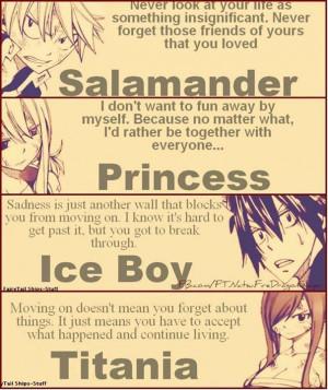 The 4 main characters. Anime: Fairy Tale
