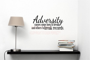 ... break records inspirational vinyl wall decal quotes sayings art