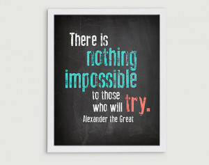 Classroom Art - Middle School Rules Decor - Nothing is Impossible Hard ...