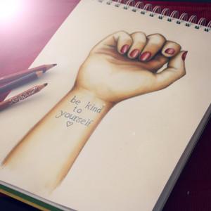 Stop Bullying Drawings Tumblr Stop self harm drawing